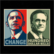 Obama Change - Romney Hundred Dollar Bills T-Shirt