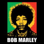 Jimi Hendrix Bob Marley Funny T-Shirt